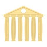 Templo grego com colunas e telhado Ilustração do vetor do ancie Fotografia de Stock Royalty Free