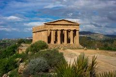 Templo grego de Concorde - Sicília Foto de Stock Royalty Free