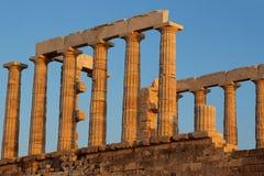 Templo grego de Poseidon Sounio Fotografia de Stock