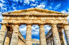 Templo grego de Segesta Fotografia de Stock Royalty Free