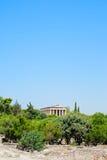 Templo grego famoso em Grécia Foto de Stock Royalty Free