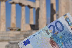 Crise económica grega Imagens de Stock