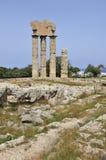 Templo griego Foto de archivo libre de regalías