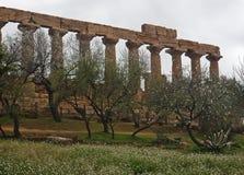 Templo griego de Agrigento imagenes de archivo