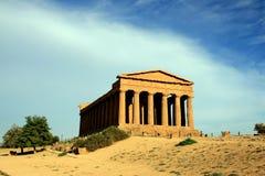 Templo griego de Concordia, Agrigento - Italia Foto de archivo libre de regalías