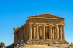 Templo griego de Concordia en Agrigento, Sicilia foto de archivo libre de regalías