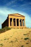 Templo griego de Concordia en Sicilia - Italia Imagen de archivo libre de regalías