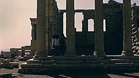 Templo griego de Erechtheion almacen de video