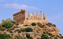 Templo griego de Juno Fotos de archivo libres de regalías