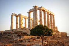 Templo griego de Poseidon Fotos de archivo libres de regalías