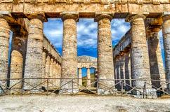 Templo griego de Segesta Foto de archivo libre de regalías