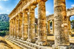 Templo griego de Segesta Imagen de archivo