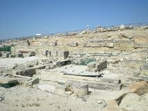 Templo griego de Segesta cerca de Trapan en Italia Fotografía de archivo libre de regalías