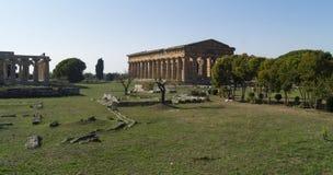 Templo griego Paestum Imagenes de archivo