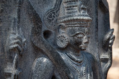 Templo Hampi, Karnataka: figuras decorativas Fotos de Stock Royalty Free