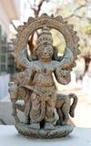 Templo Hampi, Karnataka: figuras decorativas Fotografia de Stock