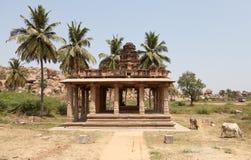 Templo Hampi, Karnataka: figuras decorativas Imagens de Stock Royalty Free