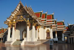 Templo hermoso Bangkok Tailandia Wat Phra Sri fotos de archivo libres de regalías