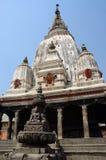 Templo hindú antiguo en el pueblo de Khokana Newari, Nepal Foto de archivo libre de regalías