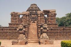 Templo hindú antiguo en Konark foto de archivo libre de regalías