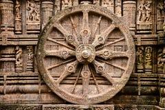 Templo hindú antiguo en Konark (la India) fotografía de archivo libre de regalías