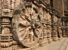 Templo hindú antiguo en Konark (la India) imagen de archivo libre de regalías