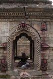 Templo hindú antiguo Nepal de la diosa Fotos de archivo libres de regalías