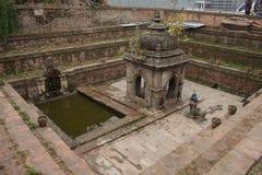 Templo hindú antiguo Nepal de la diosa Imágenes de archivo libres de regalías