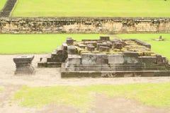 Templo hindú dañado Sambisari fotos de archivo libres de regalías