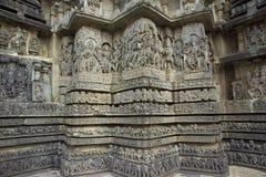 Templo hindú de Hoysaleshwara, la India imagen de archivo