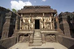 Templo hindú de la roca Foto de archivo libre de regalías