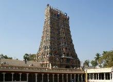 Templo hindú de Meenakshi en Madurai, la India del sur fotografía de archivo libre de regalías