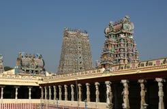 Templo hindú de Meenakshi en Madurai, Tamil Nadu imagen de archivo libre de regalías