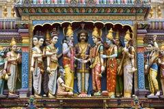 Templo hindú de Sri Krishnan - Singapur Fotos de archivo