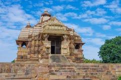 Templo hindú en Khajuraho, la India imágenes de archivo libres de regalías
