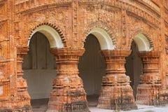 Templo hindú en la ciudad de Puthia, Bangladesh Imágenes de archivo libres de regalías