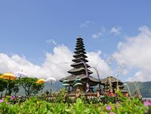 Templo hindú en la isla de Bali Pura Ulun Danu Bratan Imagen de archivo