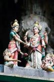 Templo hindú en las cuevas de Batu Imagen de archivo