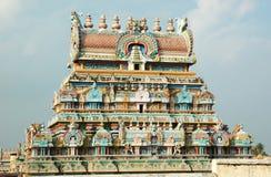 Templo hindú en Tiruchirapalli, la India de SriRangam fotografía de archivo libre de regalías