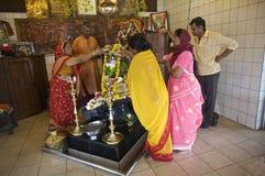 Templo hindú magnífico de Bassin, Isla Mauricio Foto de archivo