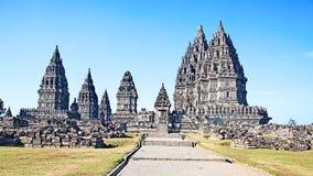 Templo hindú Prambanan imagen de archivo libre de regalías