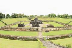 Templo hindú Sambisari - toda la visión foto de archivo libre de regalías