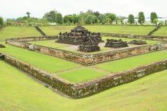 Templo hindú Sambisari - visión de la esquina fotografía de archivo