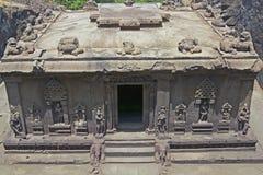 Templo Hindu antigo da rocha Fotos de Stock Royalty Free