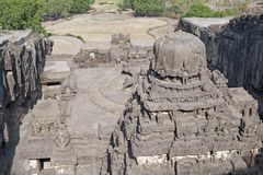 Templo Hindu da rocha Fotos de Stock Royalty Free