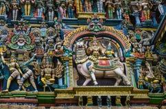 Templo hindu de Meenakshi em Madurai, Foto de Stock