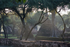 TEMPLO HISTÓRICO DEL PARQUE DE ASIA TAILANDIA AYUTHAYA Foto de archivo libre de regalías
