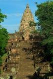 Templo histórico do cano principal do parque do degrau de Phanom Imagem de Stock