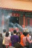 Templo Hong-Kong del pecado de Wong Tai Fotografía de archivo