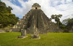 Templo I tikal Imagen de archivo